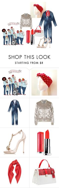 """""""Rosie Riveting"""" by pampire ❤ liked on Polyvore featuring Fendi, Topshop, Dsquared2, Ralph Lauren and Miu Miu"""