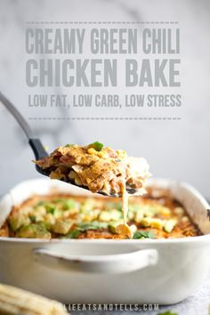 Low Carb Recipes To The Prism Weight Reduction Program A Creamy Low Calorie But High Flavor Green Chli Chicken Bake Casserole Dishes, Casserole Recipes, Baked Chicken, Chicken Recipes, Grilled Chicken, Macro Friendly Recipes, Macro Recipes, Low Carb Recipes, Healthy Recipes