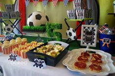 Soccer themed birthday party with Lots of Awesome Ideas via Kara's Party Ideas Kara Allen KarasPartyIdeas.com #soccerparty #soccercake #sportsparty #fifthbirthday #boyparty #partyideas (11)