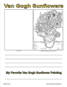 photos of first grade classrooms | first grade classroom / Van Gogh Sunflowers Notebook Page-Free ...
