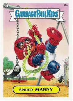 Spider man garbage pail kid card |Pinned from PinTo for iPad|
