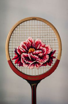 neon void — pvnkbaby: Danielle Clough racket embroidery...
