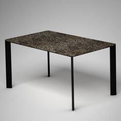 Ivory Vegetal Design Table_Random Toasted