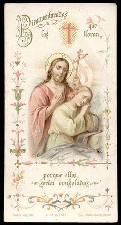 Salvator Mundi, Vintage Holy Cards, Prayer Changes Things, Jesus Christ Images, Heart Of Jesus, Santa Teresa, Catholic Prayers, Jesus Pictures, Prayer Cards
