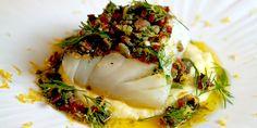 Норвегия на столе. № 4 Треска по-норвежски (Skinnstekt skreirygg med selleri- og potetstappe og baconsmør) #Norway #recipes #gastronomy