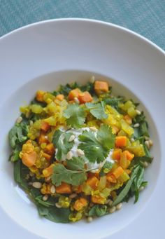 Get Chef Charles Wiley's healthy recipe for Lentil Sweet Potato Stew with Quinoa, Turmeric & Cilantro! {ZuZu at the restored Hotel Valley Ho in Downtown Scottsdale, Arizona} Qinuoa Recipes, Jucing Recipes, Lentil Recipes, Healthy Diet Recipes, Healthy Foods To Eat, Healthy Eating, Healthy Soups, Fresh Tumeric Recipes, Watercress Recipes