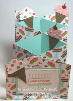 Ice Cream and Cake Cascade Card