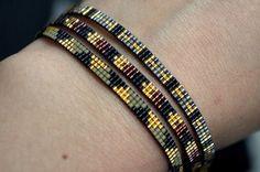 Miyuki beaded bracelet handmade Gold plated by YRSarmcandy