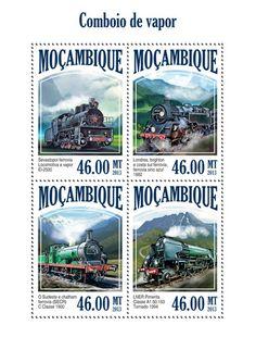 MOZ 13525 aSteam Trains, (Sevastopol railway steam locomotive EI-2500, London, Brighton and South Coast Railway, blue bell railway 1882 The Southeastern and Chatham Railway (SECR) C Class 1900, LNER Class A1 Primenta 60. 163 Tornado 1994).