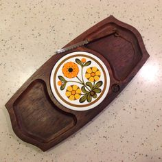 Cheese Serving Board Platter Wood and by RetroResaleSanDiego