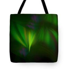Anna Maloverjan Tote Bag featuring the digital art This Fractal Looks Like Aurora by Anna Maloverjan  fractal, aurora, northern, sky, polar, light, lines, art, glow, render, abstract, background, multicolored, design, element, creative,