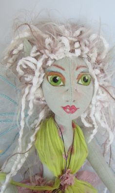 FIELD FAIRY, art doll hanging doll, soft doll, ooak made in the USA