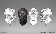 ArtStation - SCIONS of HELIOS : CASMIR, jarold Sng Borderlands Art, Red Rising, Apocalypse Art, Dragon Rpg, Sci Fi Armor, Cool Masks, Game Concept Art, Art Station, Face Design