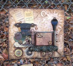 Steampunk Assemblage Train - a Gingersnap Creations blog challenge (my guest artist contribution)