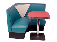 50's Drive in diner look, put this set in a corner and boom the awkward corner is functional and stylish
