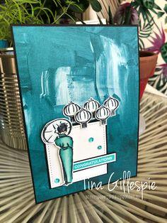 Scissors Paper Card: AWH March Creative Showcase: Monochromatic Cards