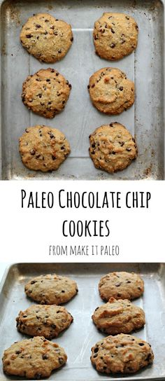 These Paleo Chocolate Chip Cookies are the best paleo dessert. So simple to make and taste just like the real thing. We make these once a month at our house!