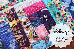 Disney quilt!!! How many characters can you find? @whitsrunningstitch