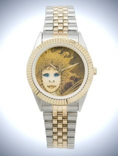 Unisex Two-Tone Bracelet Watch with Gold-Yellow Fairy Face