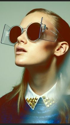 011131075f339b Shade Mode Futuriste, Paris Mode, Lunettes Originales, Spectacle, Styliste, Lunettes  De