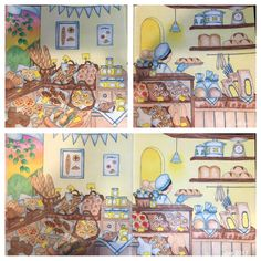 My Colorful Town by Chiaki Ida Interior of bakery Completed adult coloring book pages done by colorist: Jax