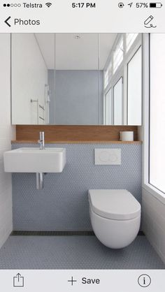 Wall Hung Basin And In Wall Cistern With Shaving Cabinet And Timber  Recessed Shelf: