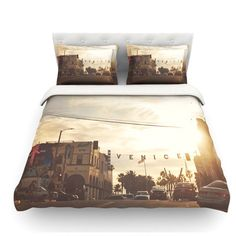 East Urban Home Winter in Venice by Myan Soffia Clouds Sky Featherweight Duvet Cover Size: King/California King, Fabric: Woven Polyester