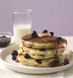 Blueberry and Lemon Pancakes. This recipe is a blueberry lovers' dream! Breakfast will never be the same!