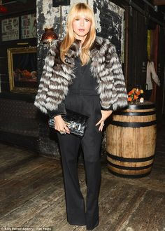 Stylish as ever: Rachel Zoe ensured she made an effort as she showed up to Diane Von Furstenberg's private dinner in New York on Monday night