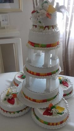 Tall Cakes, Big Cakes, Traditional Cakes, Traditional Wedding, African Wedding Cakes, Wedding Table, Wedding Day, Different Wedding Cakes, African Theme