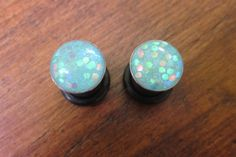 BOGO Pale Blue Fish Scale Plugs by ManicMakings on Etsy, $12.00