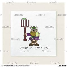 Big giant retirement cod funny greeting card st urho napkins m4hsunfo