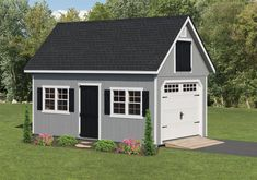 12'x20' Classic Garden Garage in our house colors
