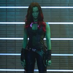 Gamora | Zoe as Gamora from the Guardians of the Galaxy trailer .