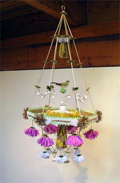 PAJAKI Dekoration, Kronleuchter, Papier Kronleuchter, Selbstgemachte Kunst,  Hausgemachten Handwerk, Selbermachen,