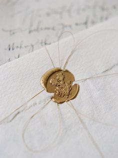 #stationery, #wax-seal Photography: Laura Gordon Photography - lauragordonphotography.com Invitations: Written Word Calligraphy - writtenwordcalligraphy.com