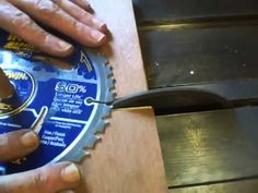 How I sharpen Table Saw Blades - In real time