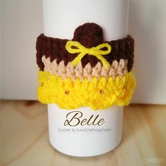 Check out this item in my Etsy shop https://www.etsy.com/listing/524513007/belle-coffee-cup-cozy-cup-cozy-crochet