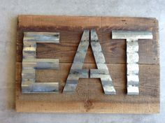 Reclaimed Barn Wood Upcycled Sign Patina by WallStarGraphics, $95.00