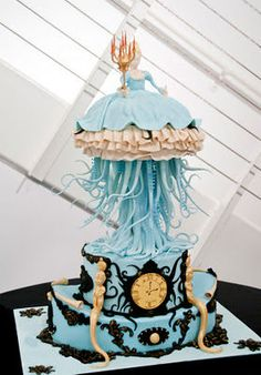 Princess octopus cake? The tentacles are amazing.