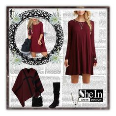 """""""wine red dress"""" by vbstyle88 ❤ liked on Polyvore featuring Burberry, Oasis, Therapy and Ettika"""