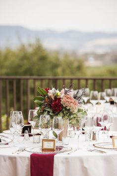 Blush & Burgundy: A Wedding in The Sonoma Vineyards, photos by Kathryn Rummel of Kreate Photography, florals by Bella Vita Event Productions
