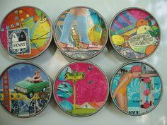Jar Lid collages