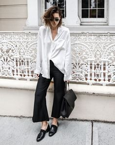 black and white style inspo #style #fashion #inspo #loafers