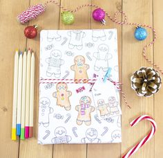 It's the most wonderful time of the year!It's also the most hectic time of year too! So I've designed some cute printable gingerbread man colouring gift wrap so you can unwind while also being productive :) This is great too for kiddos who want help wrap...but maybe are a little to young to be trus