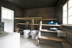 Saunas, Laundry In Bathroom, House Rooms, Hygge, Sweet Home, Villa, Cottage, Cabin, Shelves
