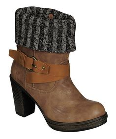 Take a look at this Khaki Anna Ankle Boot on zulily today!