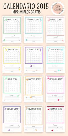 clear colours: 2015 Free Calendar / Calendario 2015 Gratis