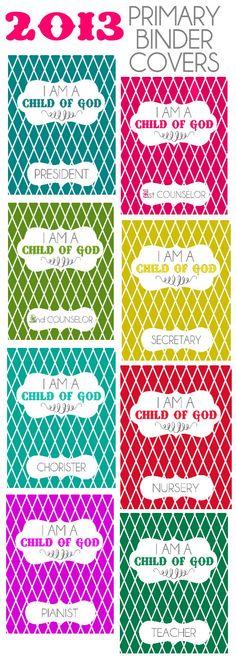 2013 Primary Binder Covers. Free download at { lilluna.com }