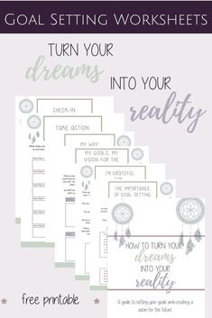 Turn your goals into reality! Access your free goal setting worksheets for adults now! Learn how to set goals for all areas of your life and tips to achieve your goals. Simple free printable goal setting template for 20 areas of your life (personal, finan Goal Setting Template, Goals Template, Planner Template, Personal Goal Setting, Personal Goals, Setting Goals, Goal Settings, Personal Progress, Goals Worksheet